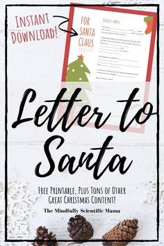 Get your Letter to Santa via instant download on the Mindfully Scientific Mama Christmas Guide. Plus, gift guides, other printables, activities, crafts, inspiration for new holiday traditions, and… More