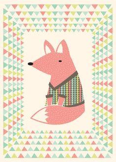 """""""fairisle fox"""" by hillarybird (Etsy)"""