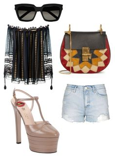 """🔝😎🙅🏻"" by muscateguim on Polyvore featuring moda, Topshop, Chloé, Gucci y Yves Saint Laurent"