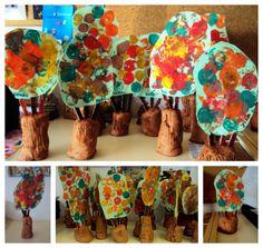 arbre tardor p3 Plasticine, Salt Dough, Mural Art, Reggio, Art Plastique, Art Education, Arts And Crafts, Autumn, Painting
