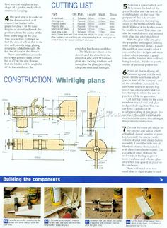 Whirligig Plans - Outdoor Plans