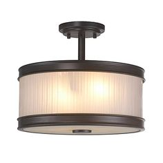 Best Bathroom Light Fixtures | World Imports Lighting  60988 Nikolai 2Light Oil Rubbed Bronze Semi Flush Mount with Ribbed Glass Shade * You can get more details by clicking on the image.(It is Amazon affiliate link) #happy