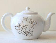 mad hatter teapot alice in wonderland tea party mad hatter tea wonderland and pottery. Black Bedroom Furniture Sets. Home Design Ideas