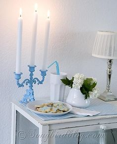 Vintage candle stick makeover and repair.  http://www.songbirdblog.com - Love canldes? Shop online at http://www.partylite.biz/legacy/sites/nikkihendrix/productcatalog?page=productlisting.category&categoryId=57713&viewAll=true&showCrumbs=true