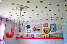 Gold Polka Dotted Ceiling