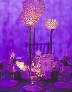 "10"" Ball x 37"" Stand Shangri-La Lamp Acrylic Diamond Chandelier - Clear | eFavorMart"