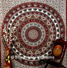 Queen Mandala Hippie Tapestry Throw Decor Bohemian Bedspread Indian Wall Hanging #Unbranded