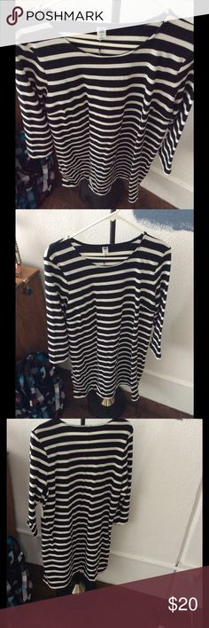 Old navy dress brand new Black and white striped dress Old Navy Dresses Long Sleeve
