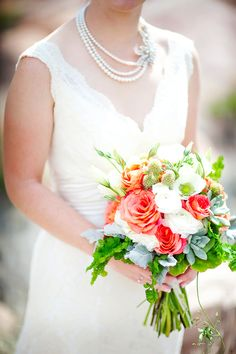 summer bouquet, photo by AK Studio  Design http://ruffledblog.com/zion-national-park-wedding #flowers #weddingbouquet