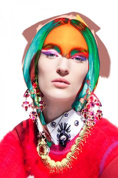 Photographer Pierre Debusschere took an euphoric approach to this editorial for V magazine Spain.