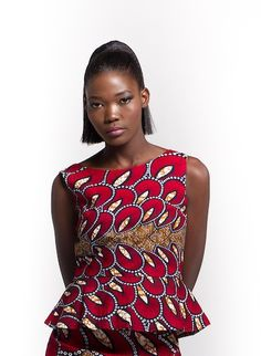 f45a95cb4ec0 African Print Tops in Various Traditional Colours and Fabrics
