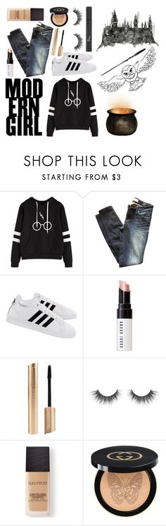 """""""Harry Potter Look"""" by izzwhizzicorn on Polyvore featuring Marc by Marc Jacobs, adidas, Bobbi Brown Cosmetics, Christian Dior, Laura Mercier, Gucci, harrypotter and CasualChic"""