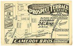 Poster Estate Map - Prospect Terrace Estate, Red Hill 1922