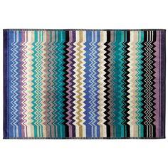 Color 156 Missoni Niles Zig Zag Striped Terry Bath Sheet Towel