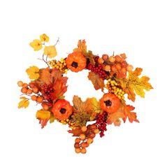 Herbst Ahornblatt Kürbis Berry Kranz Halloween Haustür HomeDeco Wreath Halloween
