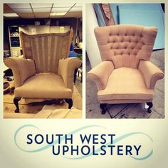 Beautiful armchair upholstered by South West Upholstery: http://swupholstery.co.uk.