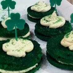 Green velvet whoopie pies!