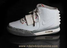 official photos d6040 443f9 Blanc Gray Nike Air Yeezy II Hommes Chaussures Sortie Kevin Durant  Basketball Shoes, New Basketball