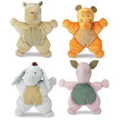 """Security blanket style plush lovie by Kids Preferred. Winnie the Pooh and friends are """"Comfort Cuddly"""" plush toys with flat body, embroidered features, corduroy accents and great detail. 12"""" So soft and just right for the smallest baby. Choose from Pooh, Tigger, Piglet or Eeyore. NWT"""