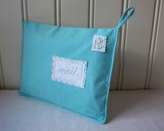 fabric envelope for letters and cards