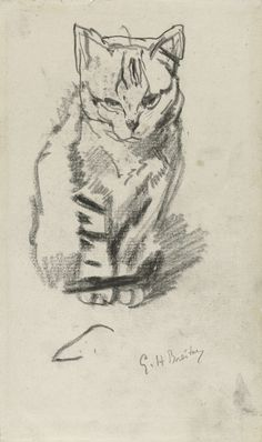 Zittende poes, George Hendrik Breitner, 1867 - 1923