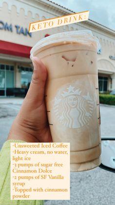 Sugar Free Starbucks Drinks, Low Calorie Starbucks Drinks, Secret Starbucks Drinks, Low Carb Drinks, Starbucks Recipes, Cold Brew Coffee Recipe, Keto Coffee Recipe, Coffee Drink Recipes, Coffee Drinks