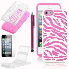 light pink zebra case