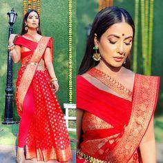 Kasautii Komolika Kay: One Of These Celebs Will Be Replacing Hina Khan On The Show! Saree Draping Styles, Saree Styles, Indian Wedding Outfits, Indian Outfits, Wedding Dresses, Look Fashion, Indian Fashion, Saree Trends, Saree Look