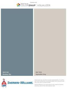 Blue Gray Paint, Blue Paint Colors, Bedroom Paint Colors, Paint Colors For Living Room, Paint Colors For Home, Living Room Grey, Living Rooms, Blue Grey Paint Color, Living Room Accent Wall