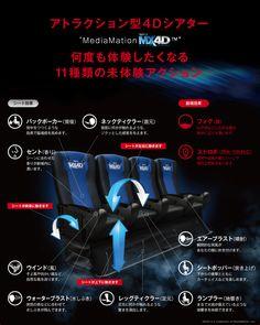 """アトラクション型4Dシアター""""MediaMation MX4D"""" 何度も体験したくなる11種類の未体験アクション"""