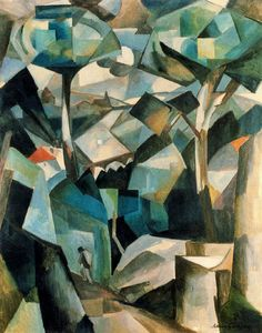 Albert Gleizes Tate piper series - this piece of art work has been designed by a man called Albert Gleizes.And he has used many shades of colours and different shapes and sizes.