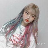 Best Indoor Garden Ideas for 2020 - Modern Girl Hair Colors, Hair Color Pink, Blonde Color, Pink Hair, Pretty Korean Girls, Hair Upstyles, Blonde With Pink, Cute Girl Face, Ulzzang Korean Girl