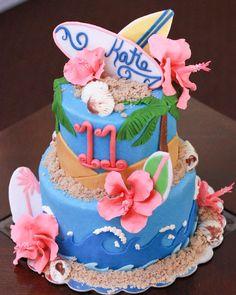 surfer girl cake - Google Search Emily