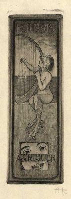 Ex libris by Alexandre de Riquer for himself, 1903
