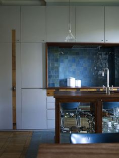 Refined kitchen.