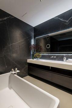 p/minimalist-style-home-in-kiev-on-behance - The world's most private search engine Bathroom Tile Designs, Bathroom Interior Design, Modern Baths, Modern Bathroom, Minimalist Fashion, Minimalist Style, Minimalist Apartment, Toilet Design, Minimal Home