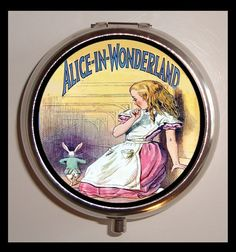 Hey, I found this really awesome Etsy listing at https://www.etsy.com/listing/76758099/alice-in-wonderland-white-rabbit-pill