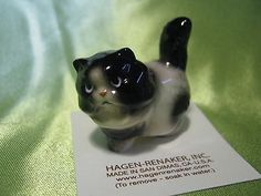 Hagen Renaker Fat Cat Black/White Figurine Miniature 04097 Ceramic NEW
