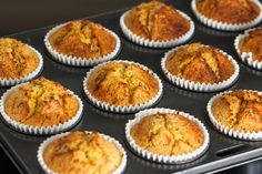 Looking for a gluten free muffin? These easy to make high protein banana bread muffins are perfect for on the go snacks or for a light breakfast. Banana Protein Muffins, Banana Bread Muffins, Gluten Free Banana, Gluten Free Muffins, Baking Cookbooks, On The Go Snacks, Baking Tips, Baking Hacks, Baking Recipes