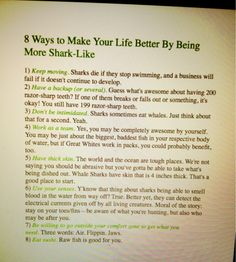 life lessons from sharks : P