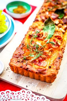 Party Food And Drinks, Party Snacks, Quiches, Healthy Cooking, Cooking Recipes, Special Recipes, Lunches And Dinners, No Cook Meals, Vegetable Pizza