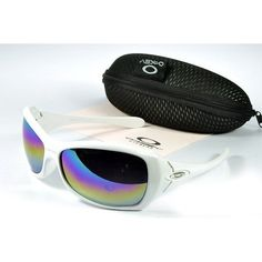 Oakley Women'S Sunglasses Blue-Pink-Yellow Iridium White Frames-20574
