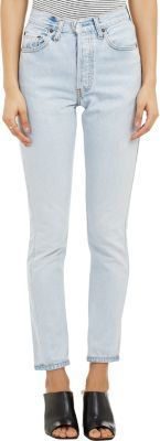 RE/DONE Women's High Rise Jeans-BLUE