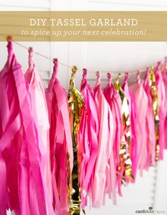 DIY Tassel Garland to spice up your next celebration! (Tutorial via Cardstore Blog)