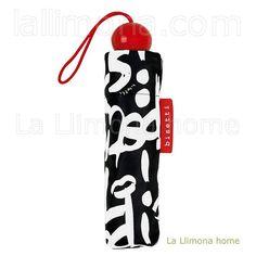 Paraguas Bisetti lipstick grafitti plegable. Alto plegado: 24 cms. http://www.lallimona.com/online/paraguas/