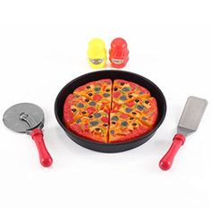 Pizza Kitchen Cut & Serve Play Food Toy Set for Kids - Cooking & Cutting Fast Food Party