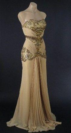 Vintage evening gown soo glitzy!!