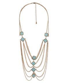 drape chain necklace.               Draped Chain Necklace