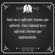 #Motivación #Sevilla Saber no es suficiente...