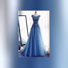 Browse Our Large Selection of Prom Dresses,Appliques A-Line Sleeveless Ice Blue Tulle Prom Dresses Long with Rhinestone,Evening Dresses at Simibridaldresses Prom Girl Dresses, Elegant Prom Dresses, A Line Prom Dresses, Beautiful Prom Dresses, Tulle Prom Dress, Prom Gowns, Prom Party Dresses, Ball Dresses, Formal Dress